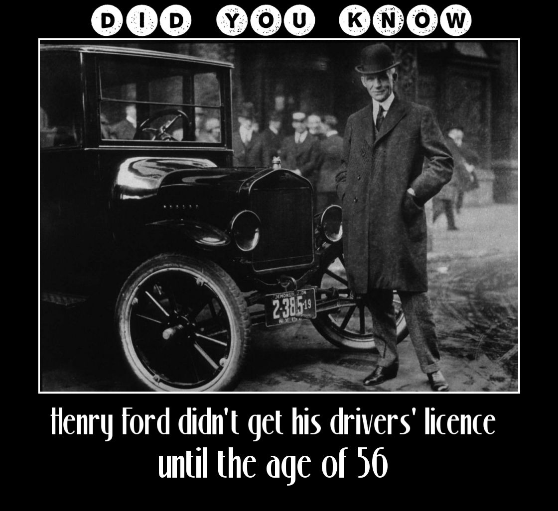 Did you know HenryFord Today in history, Henry ford