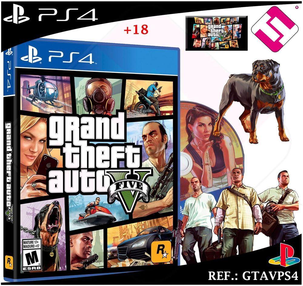 Juego Gta5 Grand Theft Auto 5 Gtav Ps4 Playstation 4 Cd Precintado