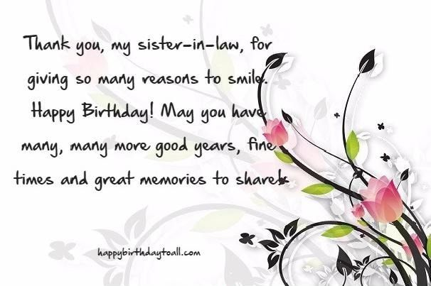 Happy Birthday Sister In Law 8 Jpg 606 403 Happy Birthday