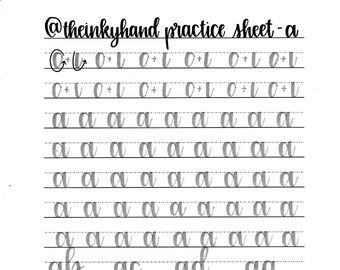 All Worksheets calligraphy writing worksheets : Free Printable Calligraphy Alphabet Practice Sheets | For the ...