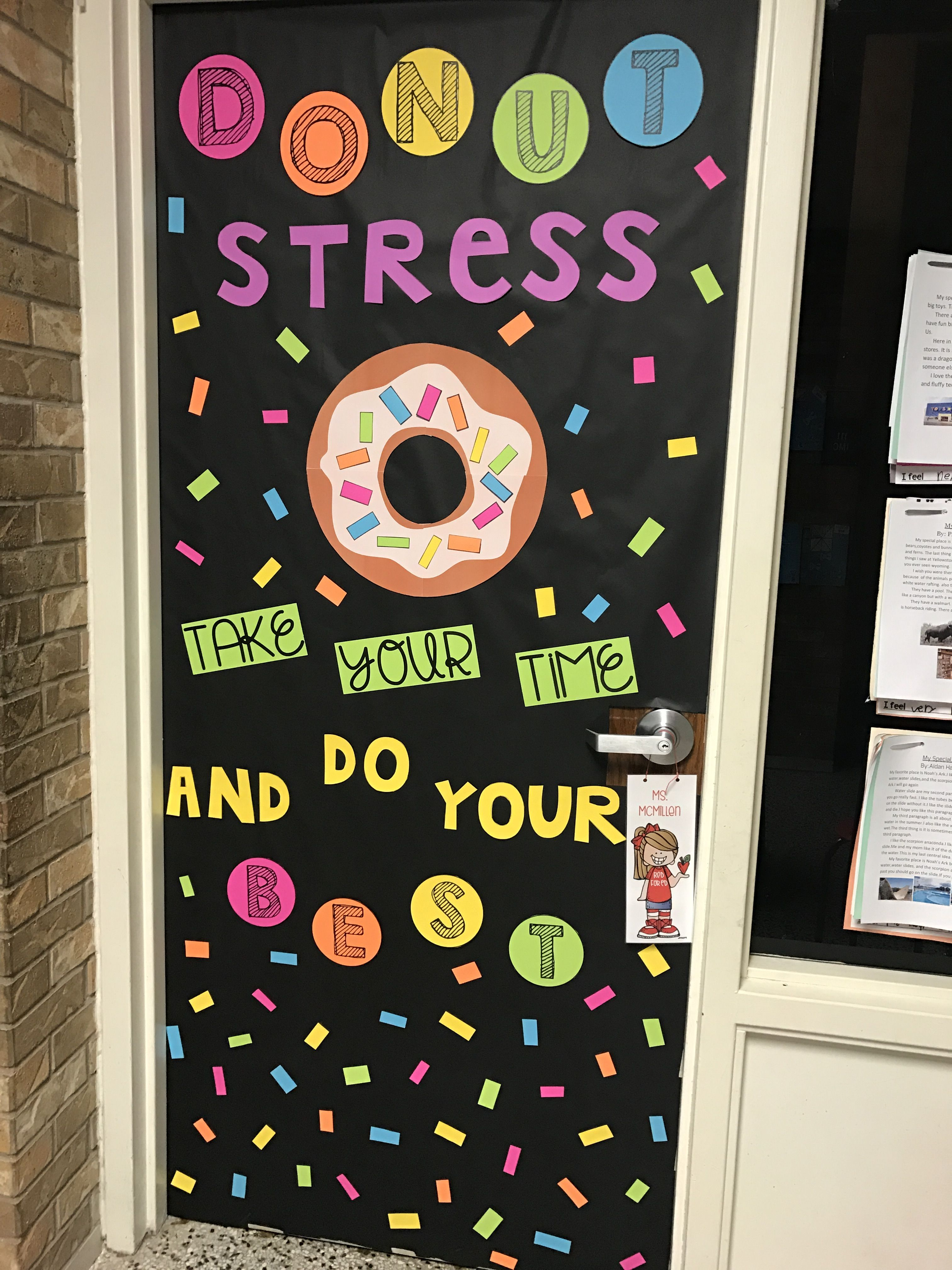 Donut Stress Door Decor Just In Time For Spring Testing Season