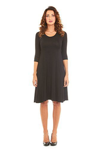 Womens Stylish A-Line Trapeze Midi Dress, A-Line Dress by Velucci