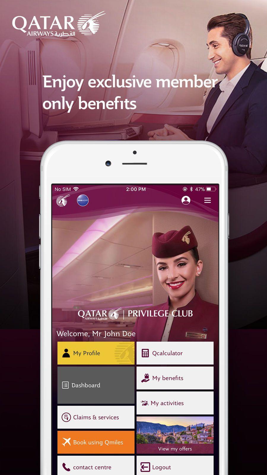 Qatar Airways Apps App Appstore Ios Qatar Airways Airlines Branding Qatar