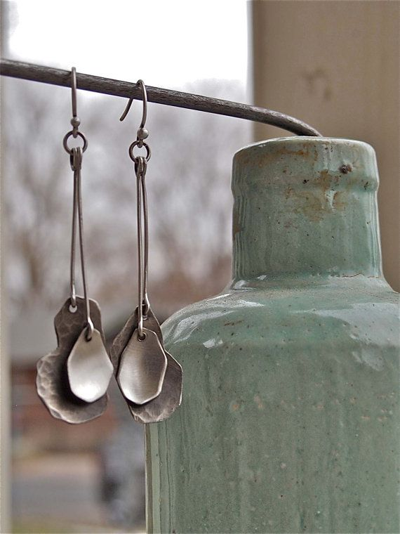 Sterling Silver Double Dangle Earring by MariaRoseSorensen on Etsy