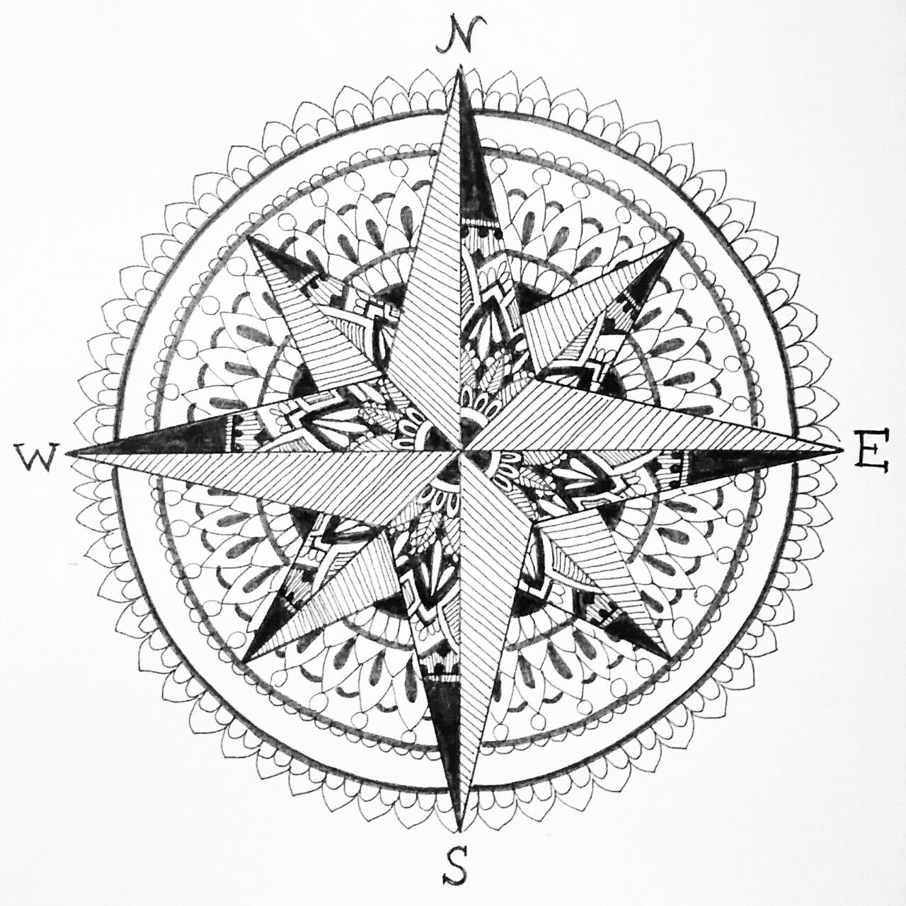 Compass Tattoo Line Drawing : Related image atelier handmade jewelry design