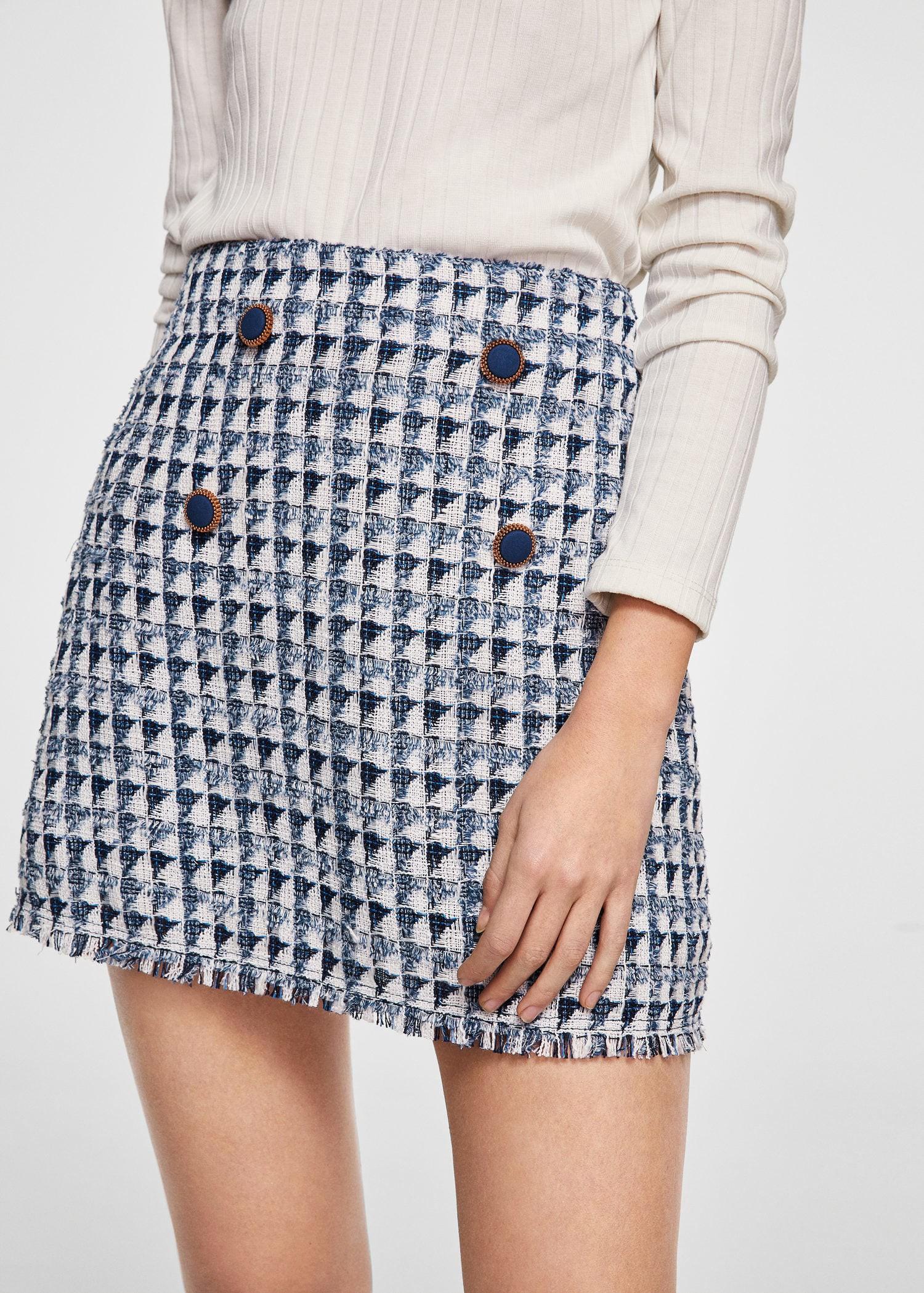 8b890def39 Mango Tweed Skirt - Women | 10 | Products | Tweed skirt, Skirts ...