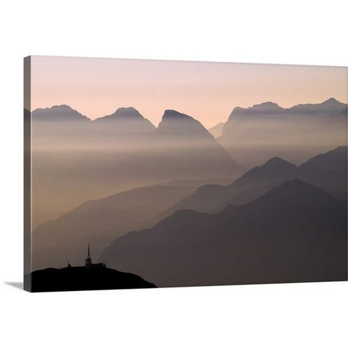 Found it at Wayfair - Alpine Sunset by Lorenzo Rieg Photographic Print on Canvas