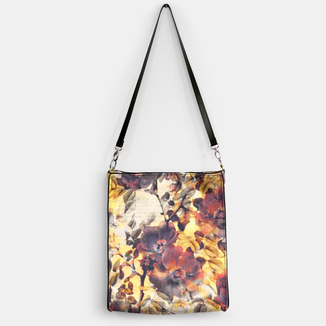 Flowers Torebka Unique Handbag Shoulder Bag Reusable Tote Bags