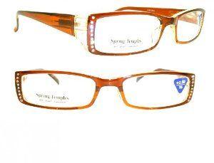 4f565de5cc8 Brown Crystal Rhinestone Reading Glasses +1.75 by Crystal Case.  19.99.  Recessed Rhinestones!