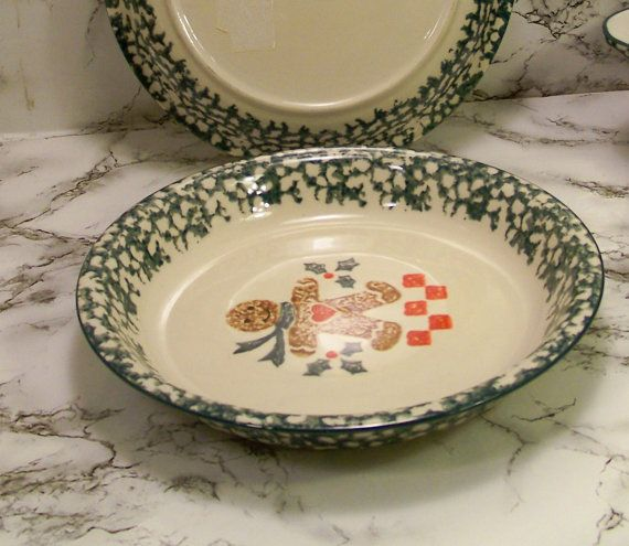Gingerbread by Tienshan 10 1/8 in Pie Serving Plate was Discontinued vintage dish & Gingerbread by Tienshan 10 1/8 in Pie Serving Plate was Discontinued ...