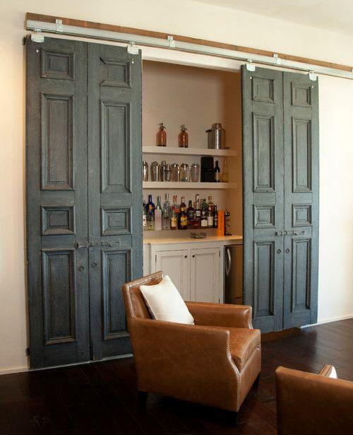Home Bar Design Ideas Houzz: Pair Of Barn Doors, By Antigua Doors