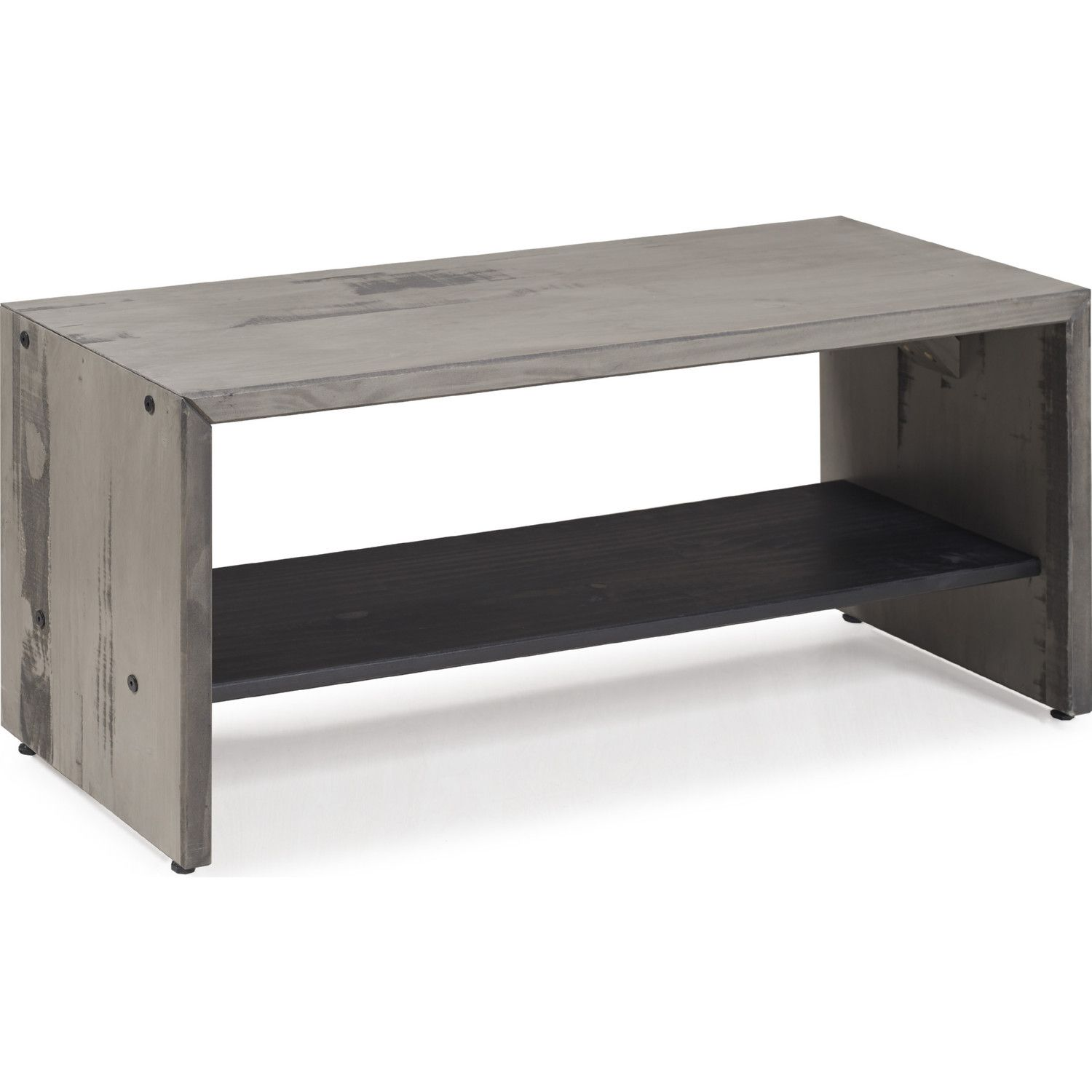 42 Rustic Entryway Bench In Grey Reclaimed Finish Solid Pine By