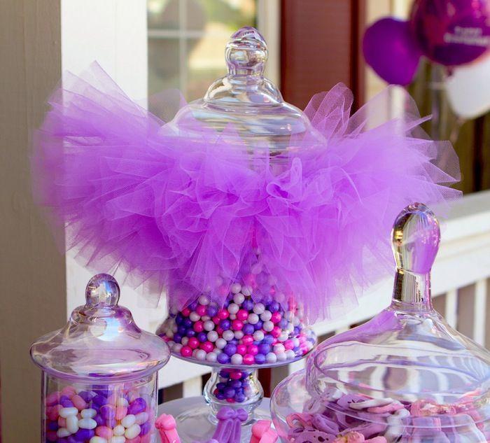 Pink Purple Ballerina Ballet Themed Birthday Party Ballerina Birthday Parties Pink Purple Party Baby Birthday Party Girl