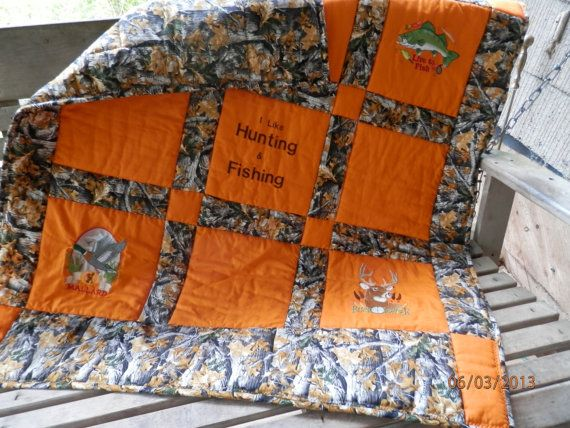 Hunting and Fishing Toddler Quilt on Etsy, $80.00 | QUILTS, QUILTS ... : hunting quilts - Adamdwight.com