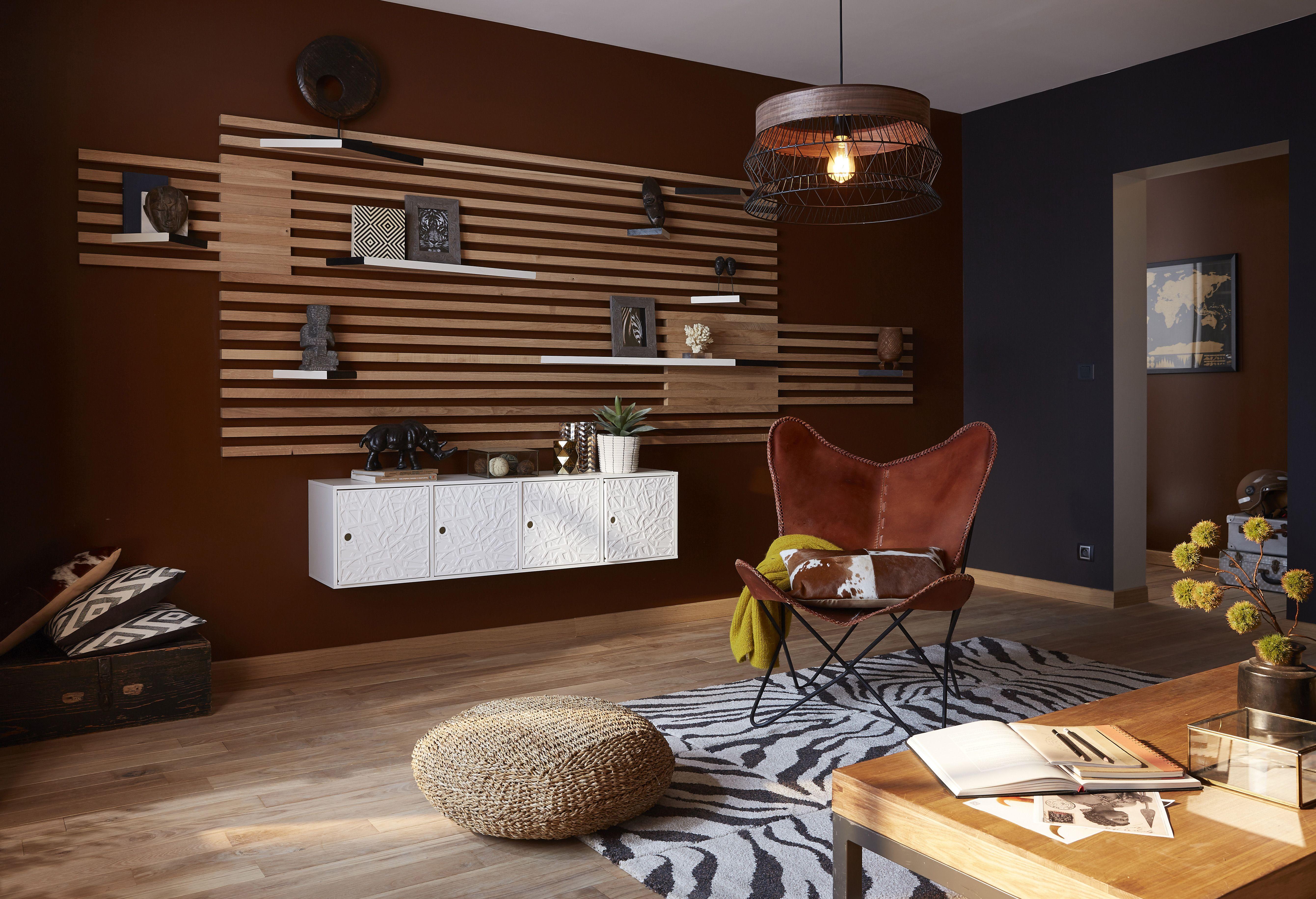 Salon Style Africain pour réaliser cette étagère dans le style afrique revisitée, vous