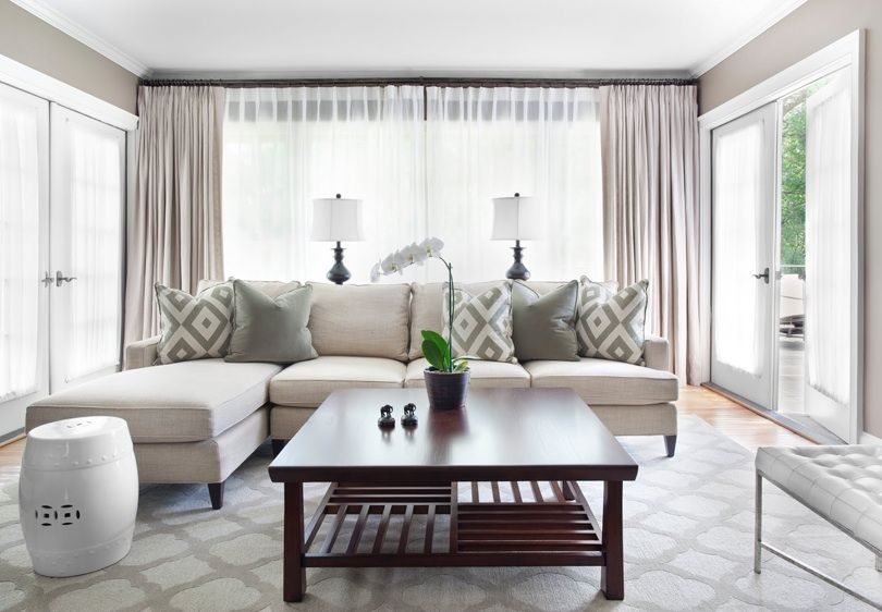 Exceptionnel Source: Mark Williams Design Gorgeous Monochromatic Living Room Design With  Gray Walls Paint Color, Ivory Mitchell Gold + Bob Williams Charlotte Sofa  With ...