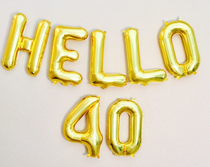 HELLO 40 Balloons 40th Birthday Number Bday Happy Balloon Cheers To Years Anniversary
