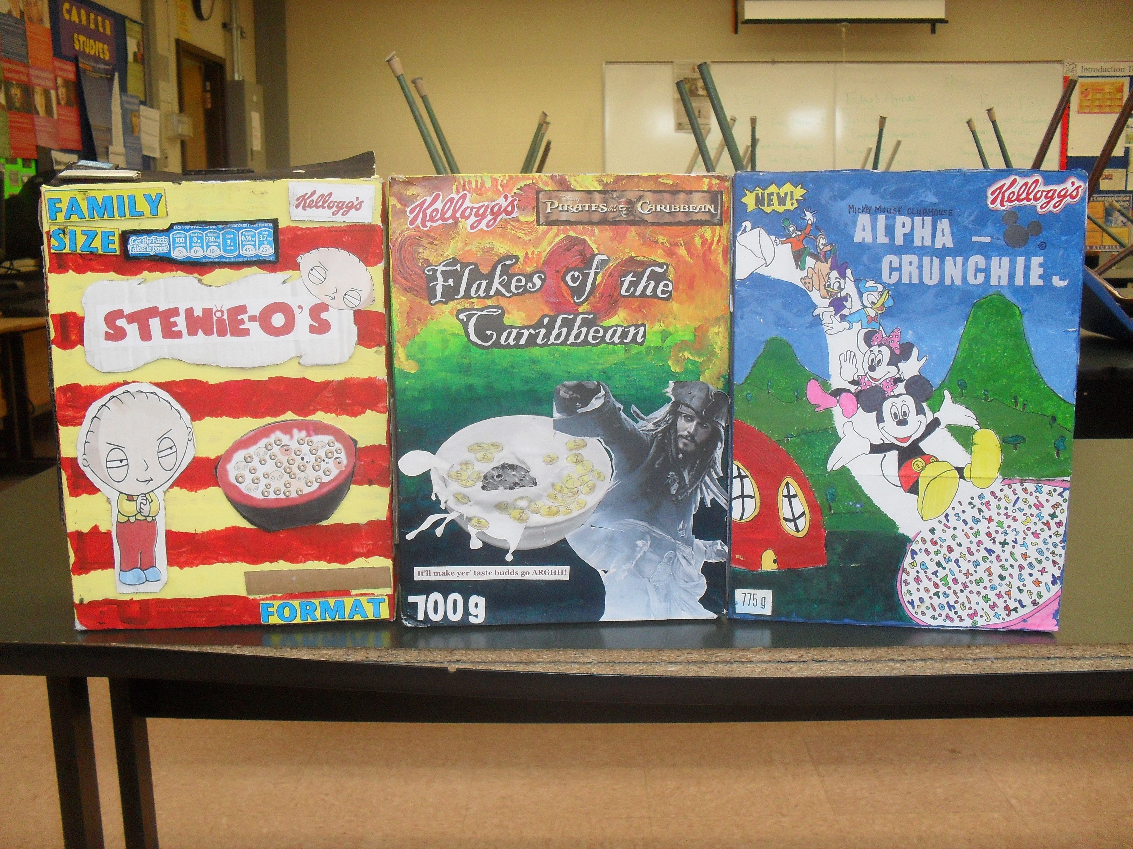 Cereal box design project google search cereal box for Cereal box project for school