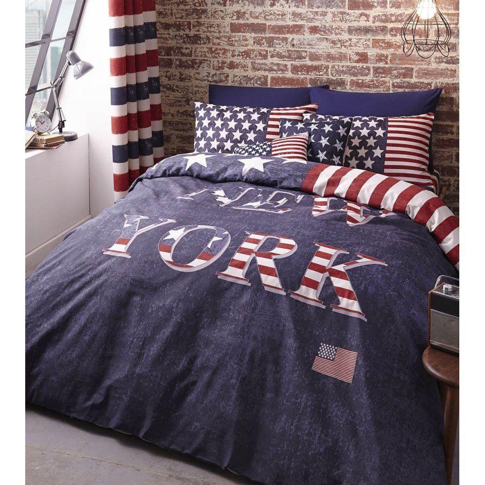 New York Duvet Cover Filled Cushion Duvet Covers Bed Linen