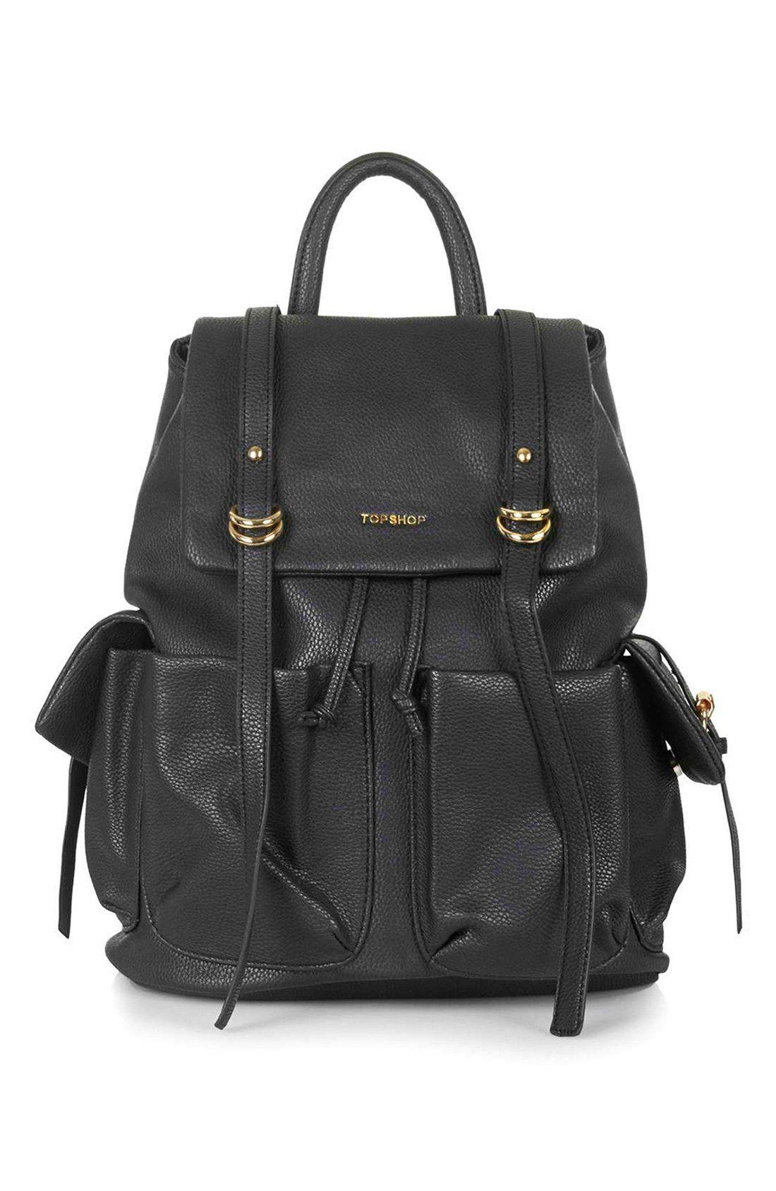 Topshop  Edinburgh  Faux Leather Backpack  73e28a466dce0