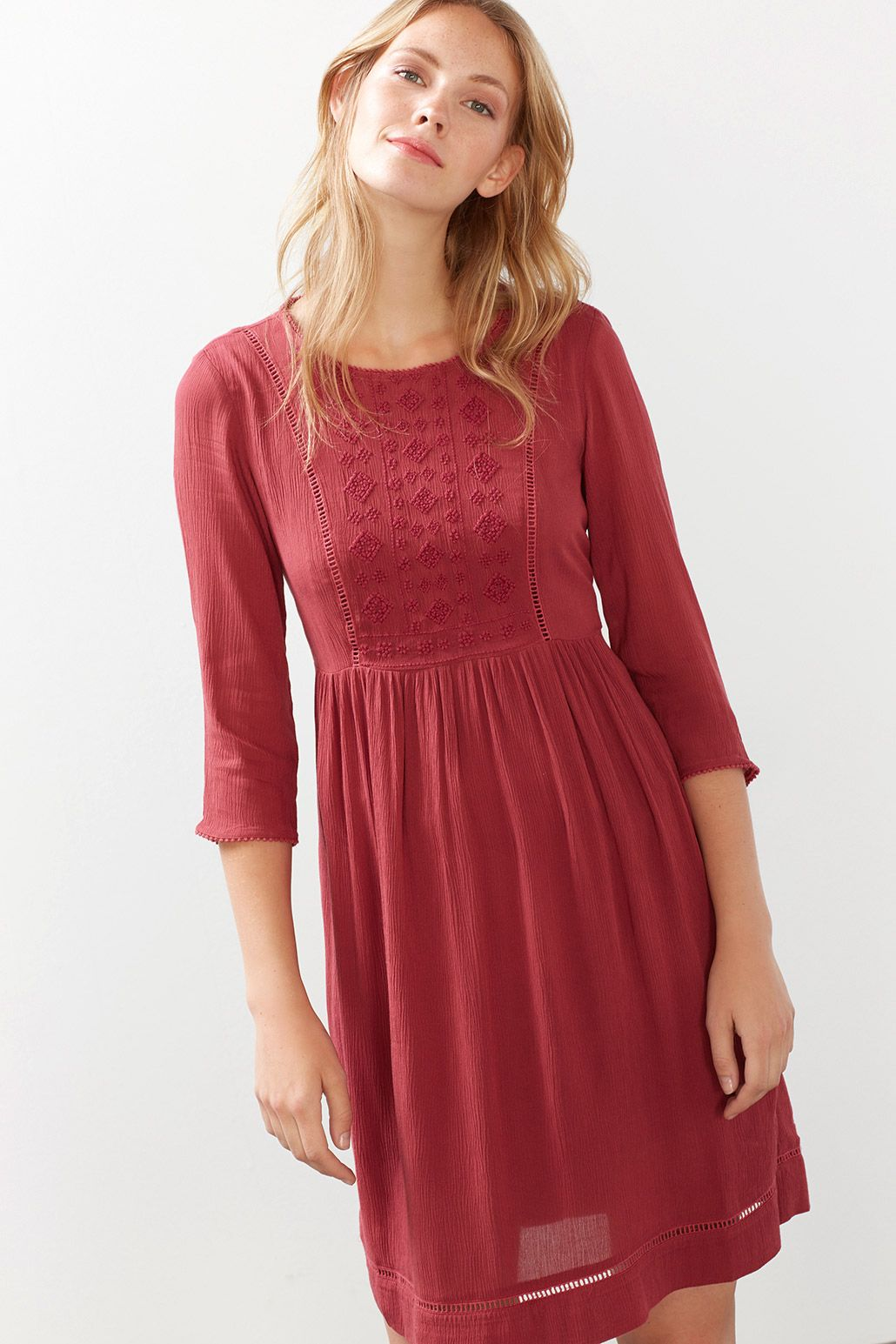Esprit / Fließendes Crinkle-Kleid  Dresses, Fashion, Clothes