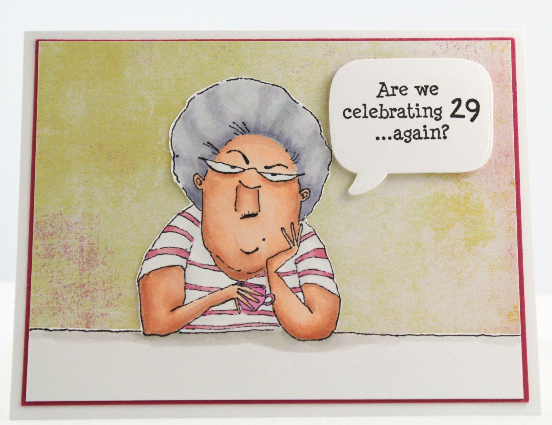 Handmade Happy Birthday Card Seniors Birthday Card Funny