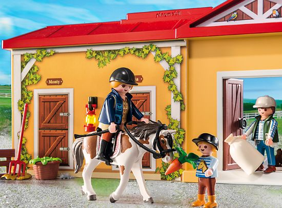 Bridle Saddle /& Reins Grey NEW  Farm Playmobil New Style Horse Tack Stables