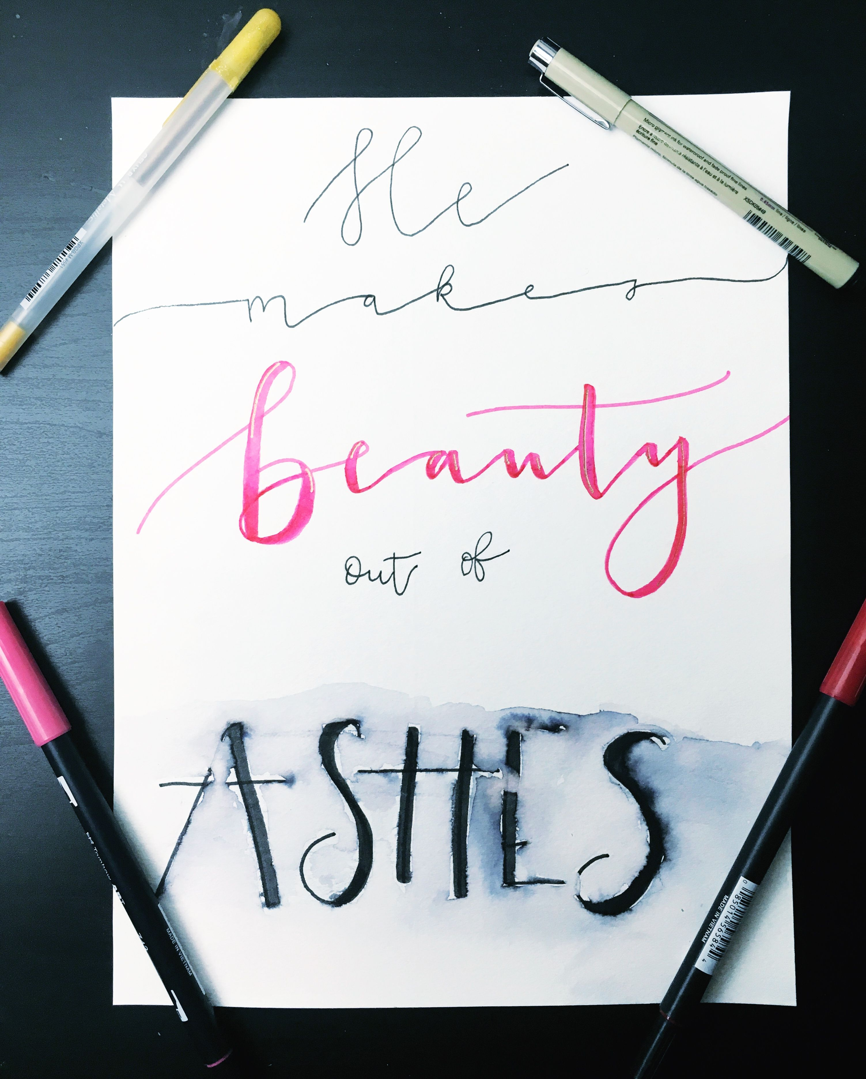 Beauty out of ashes watercolor beauty from ashes bible ...