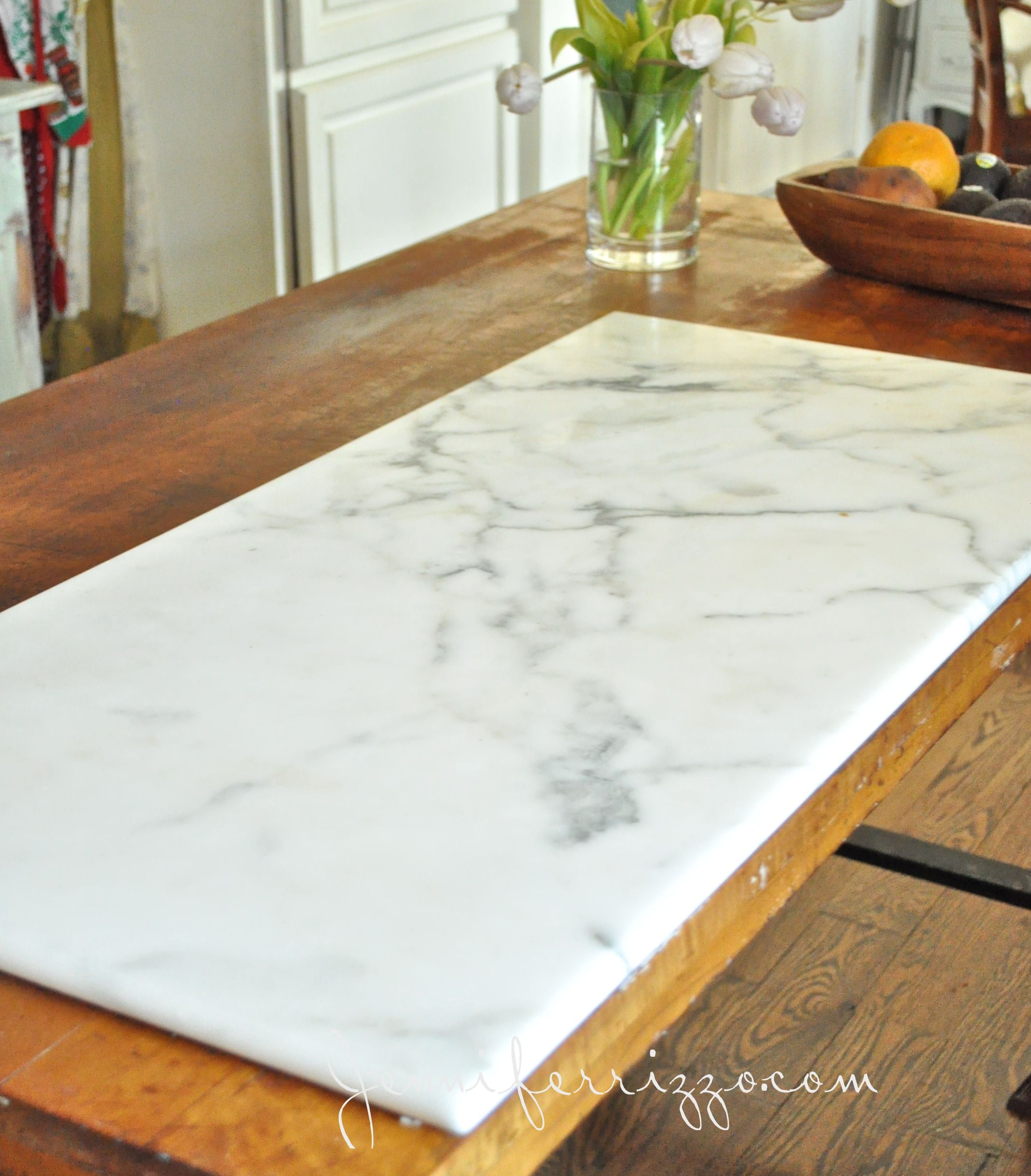 A Piece Of Bakeru0027s Marble Used As A Kitchen Island Top