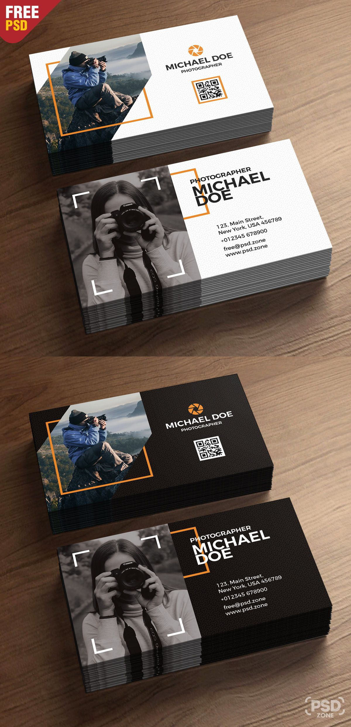 Photography Business Cards Template Psd Psd Zone Business Cards Creative Photography Business Cards Template Graphic Design Business Card