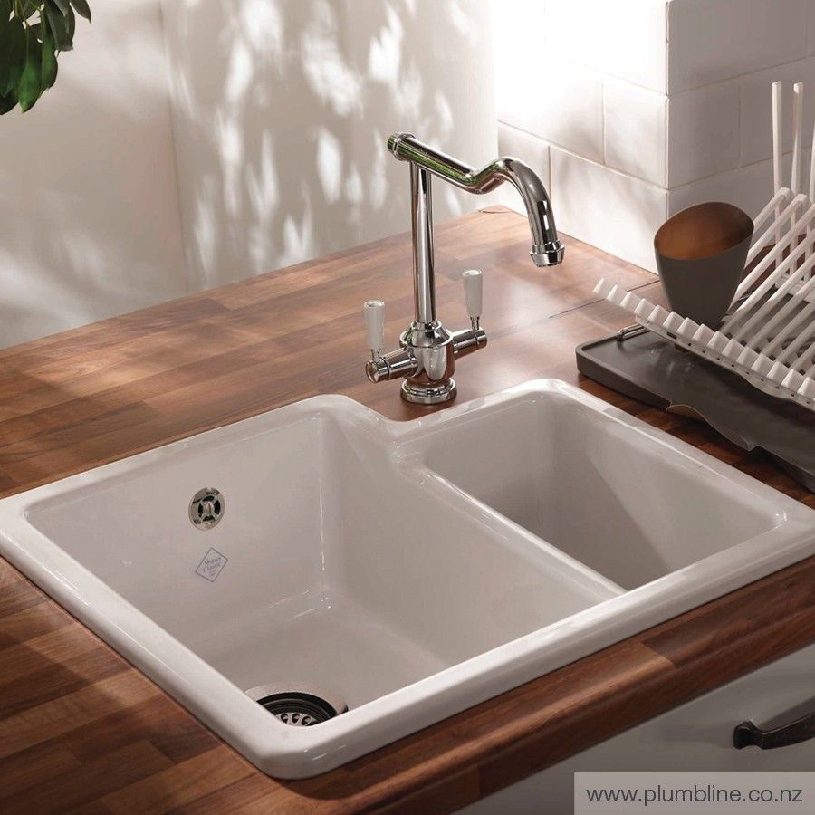 Classic Brindle Double Sink - Inset & Undermount Sinks - Butler Sinks…