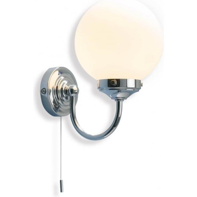 Bathroom Wall Light Fixtures Uk traditionally designed barclay bathroom wall light in chrome. this