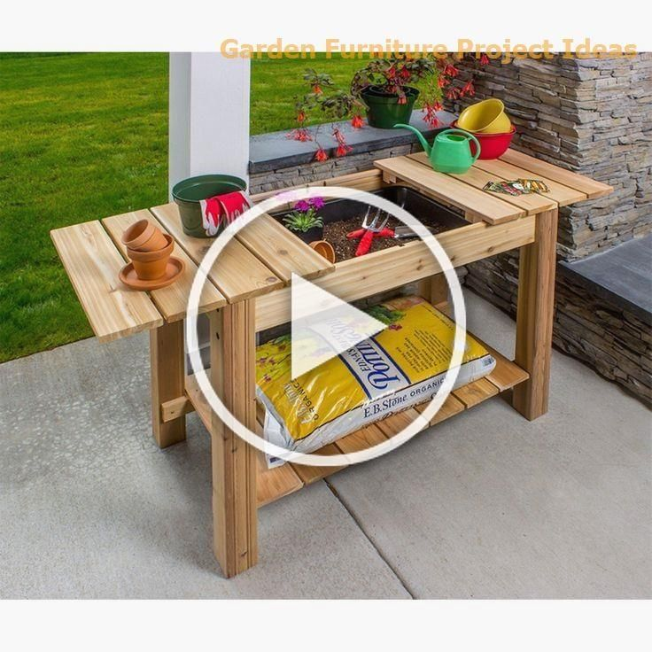 15 Adorable Gardening Furniture Projects with Wood #garden ...