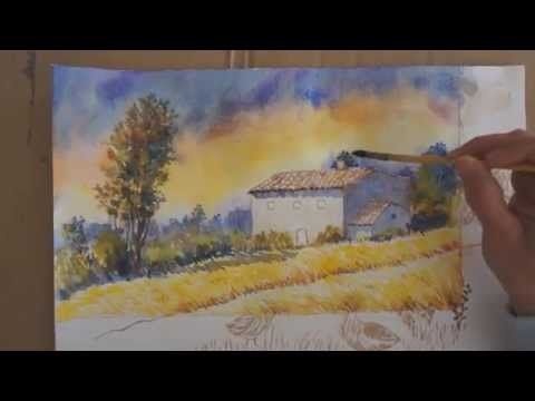 Demo Aquarelle Serenite D Automne Watercolor Tutorial