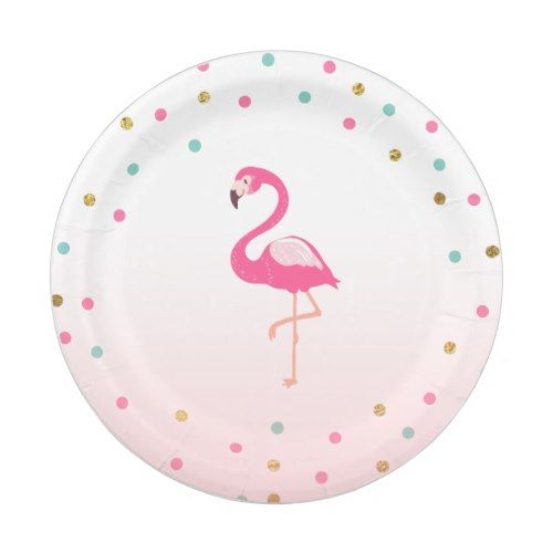 Flamingo Birthday Paper Plates Tropical Luau  sc 1 st  Pinterest & Flamingo Birthday Paper Plates Tropical Luau | Flamingo birthday ...