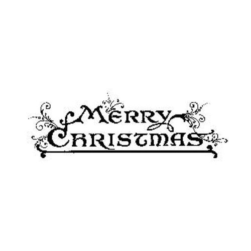 Tim Holtz Rubber Stamp MERRY CHRISTMAS J3-1570 Stampers