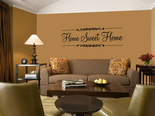 Home Sweet Home Quote In A Longue Wall Art Decal Vinyl Sticker · Paint  IdeasIdea ...