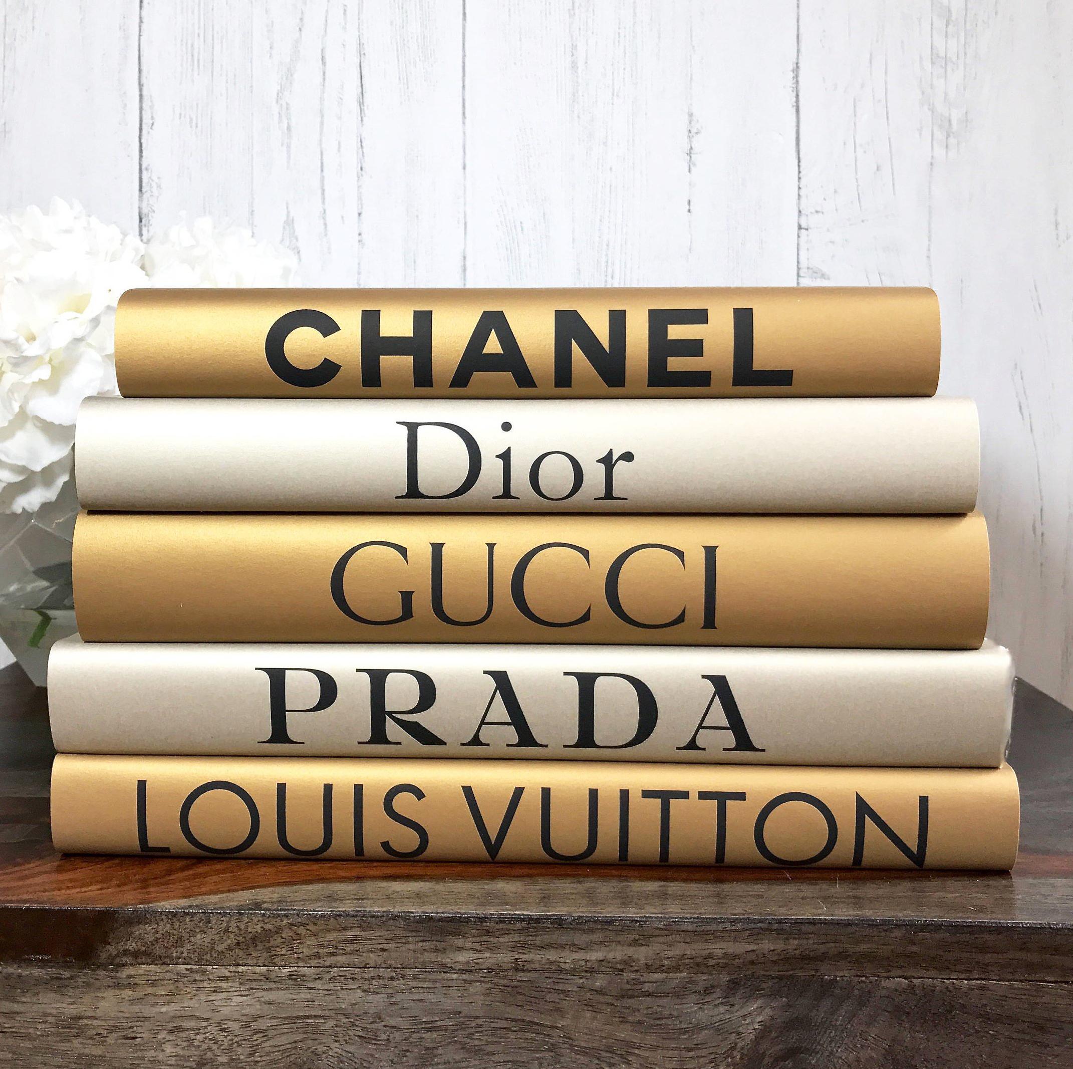 Chanel Coffee Table Gold And Silver Fashion Designer Decorative