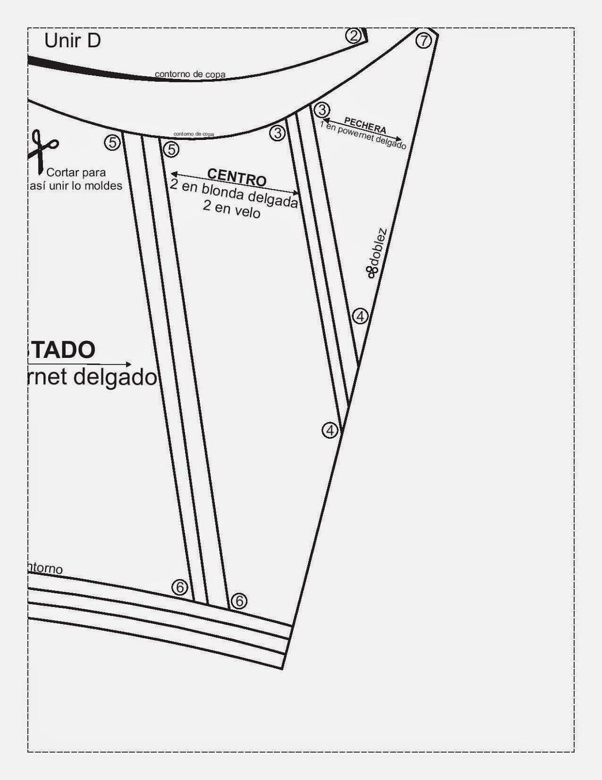 Agulha de Ouro Ateliê: Molde gratuito de Sutiã Corpete e calcinha ...
