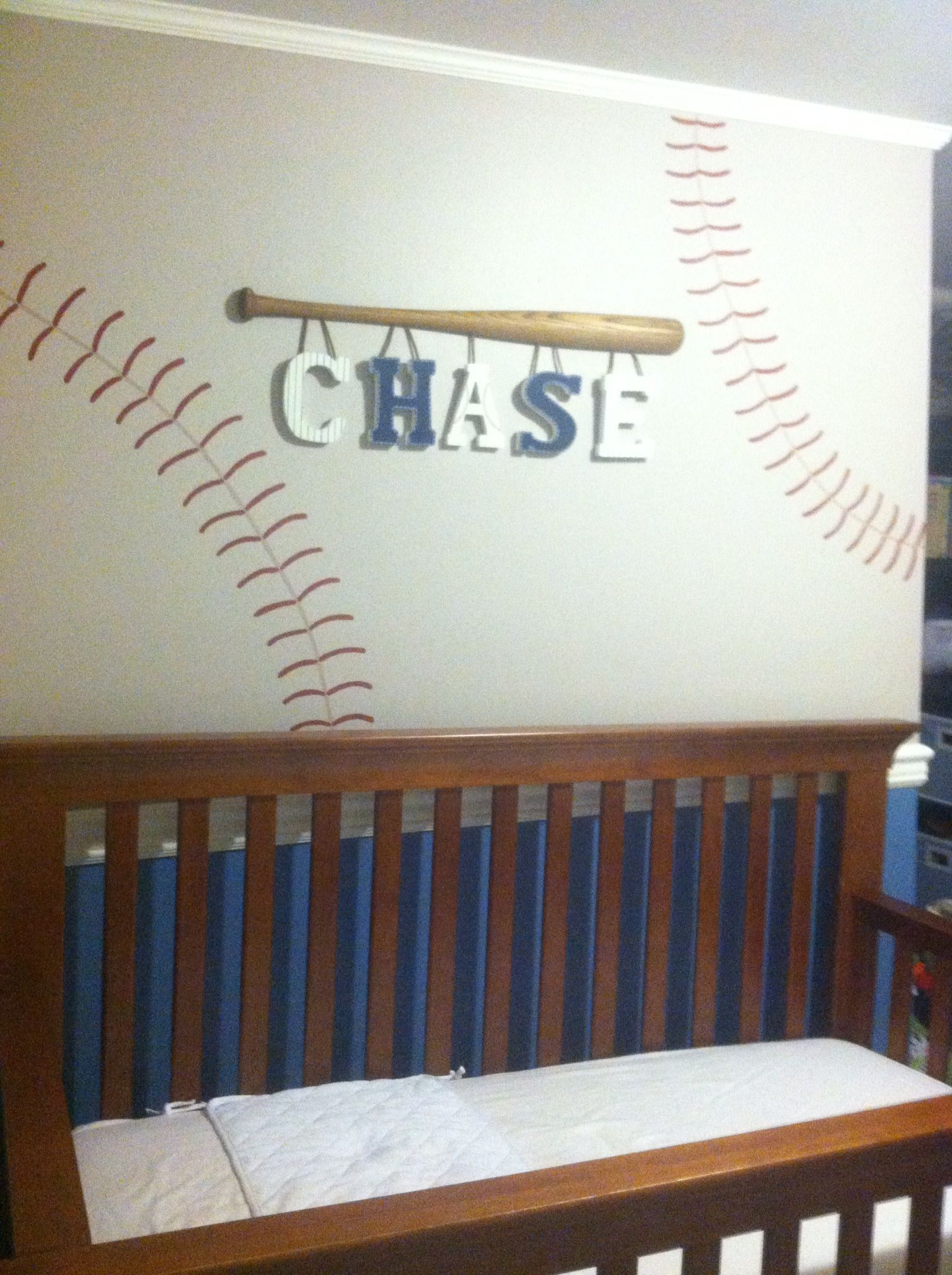 Boys Baseball Bedroom Ideas baseball lettersperfect for a little boy! | babe's room