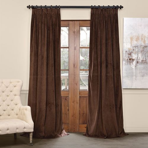Signature Java 25 X 120 Inch Signature French Pleated Blackout