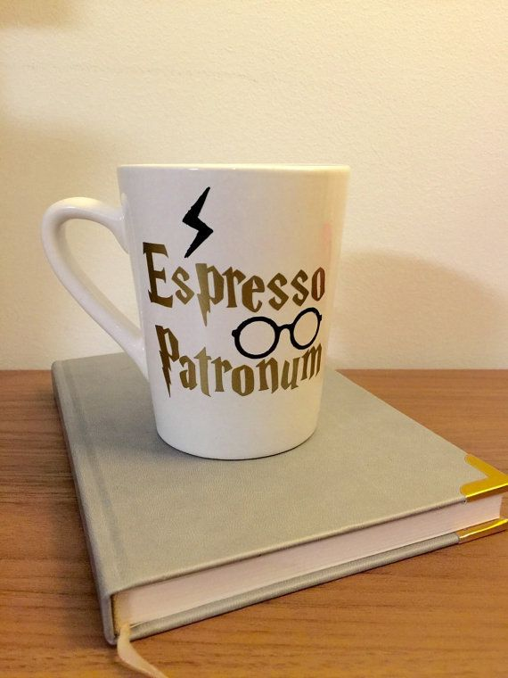 Harry Potter fan? Look no further! Espresso Patronum mug is a great gift or something to just buy yourself. All products will look like the picture (white mug with gold writing and black detail) unless specified. Please contact the store before purchasing if you would like to change aspects of the mug. We ship 2-day priority mail so you get a tracking number and your package is insured! Hand wash only! Product may vary slightly as we make the product as it is ordered. Not what you were lookin... #mugcup