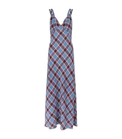 Pay With Visa Marc Jacobs Woman Plaid Silk Crepe De Chine Maxi Dress Light Blue Size 6 Marc Jacobs Big Discount Cheap Price Largest Supplier Cheap Price Eastbay For Sale Sale Best Place LCHVT5