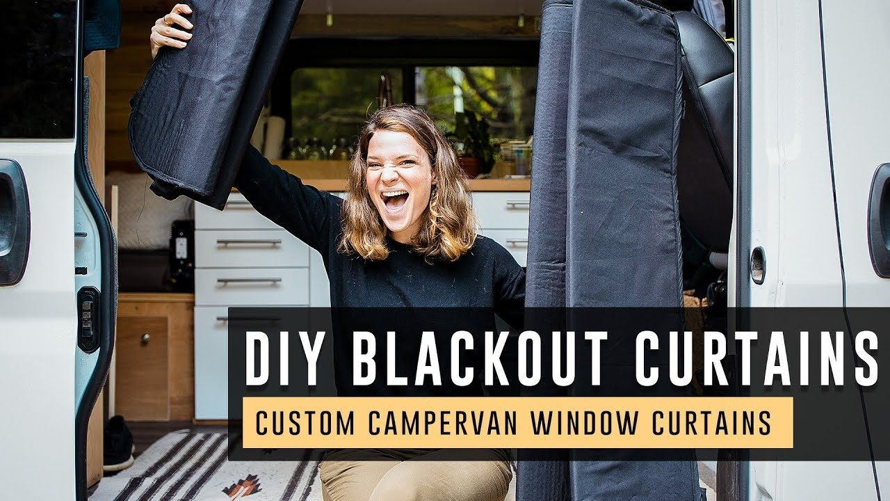 How to make blackout window covers for a campervan