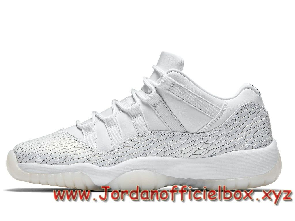magasin en ligne e5380 c460e Air Jordan 11 Retro Low GS Heiress White Pure Platinum ...