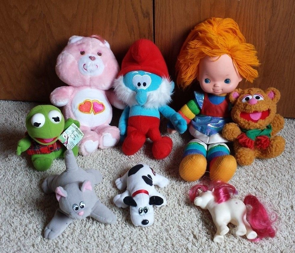 Wholesale lot 8 toys 1980 My Little Pony Pound Puppies