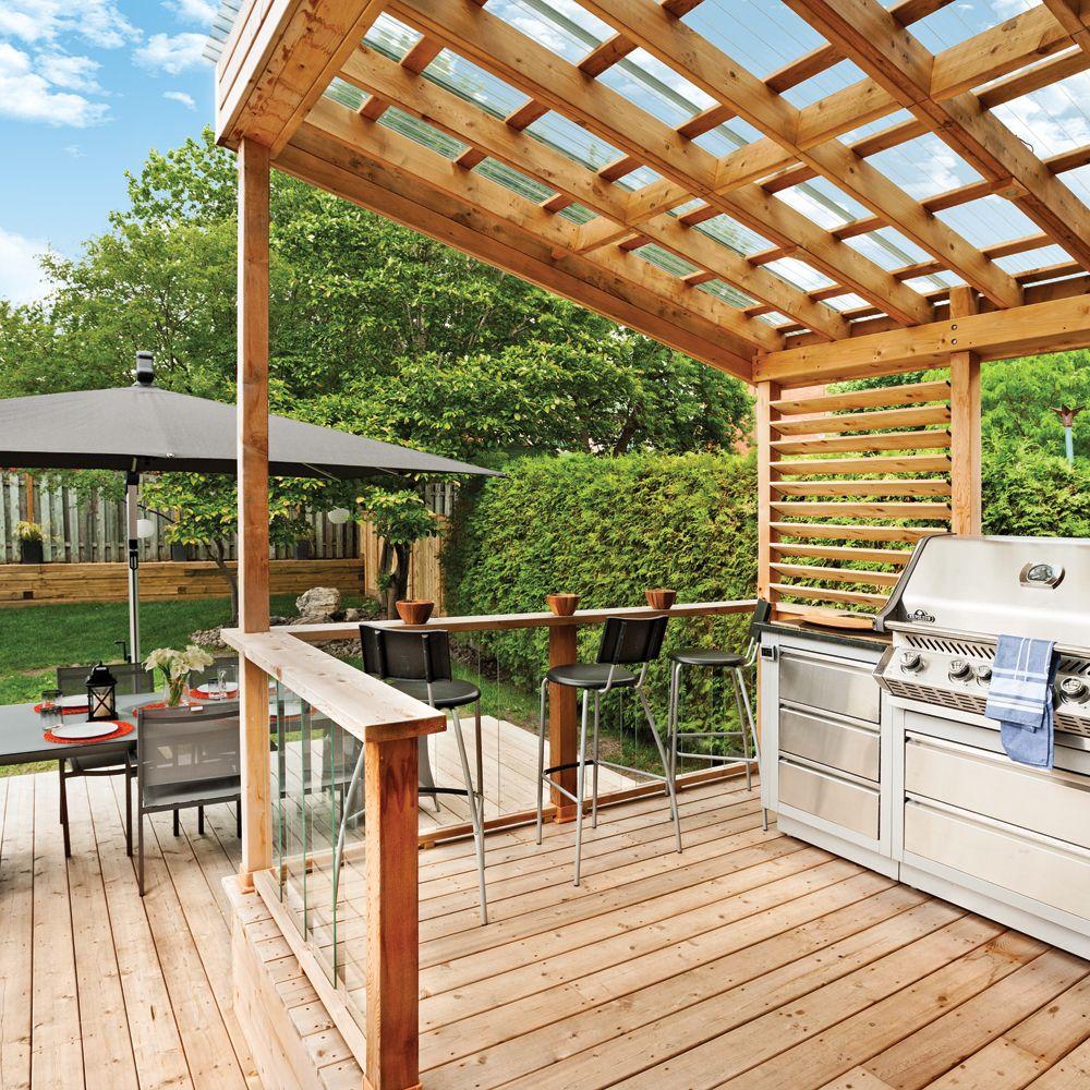 Terrasse Et Coin Bbq Confortables Sur Deux Niveaux Je Jardine Patio Pergola