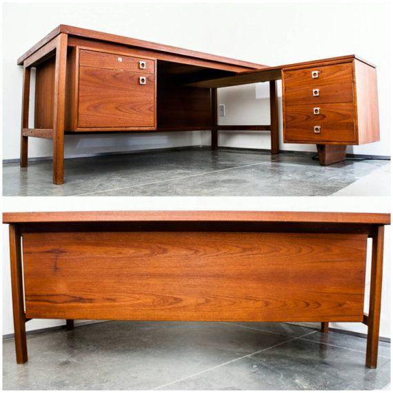 Mid Century Danish Modern Desk Teak Arne Vodder For H P Hansen