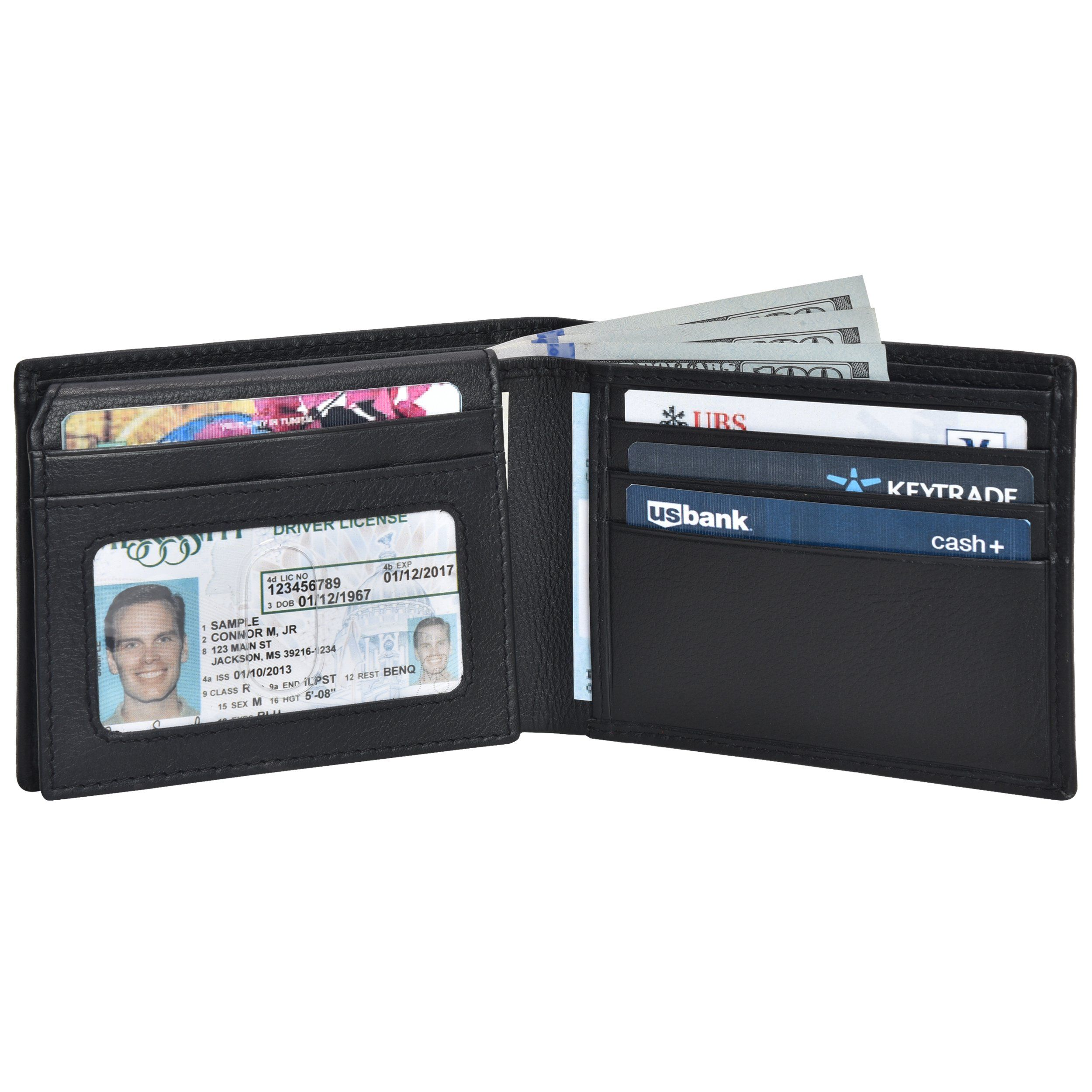 cf83f11c9 Clifton Heritage Genuine Leather Bifold Wallet with 2 ID Window and RFID  Blocking ***