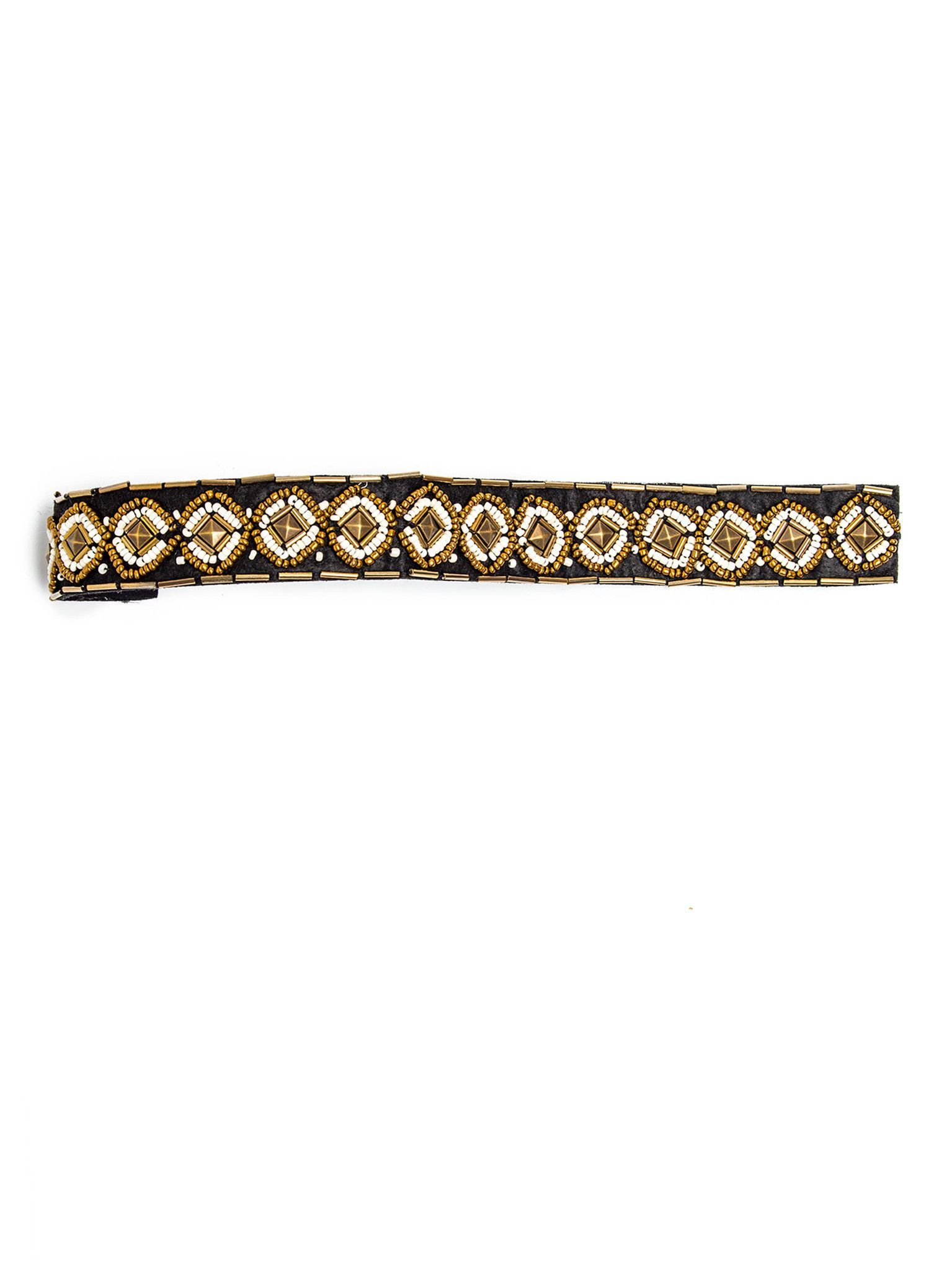 Pavati Headband, Beaded Headpiece With Diamond Pattern